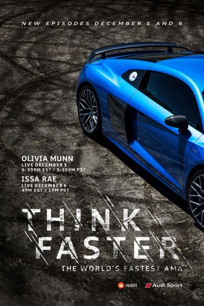 Audi Teams Up With Reddit For The Second Installment Of The World's Fastest Livestream AMA Series, 'Think Faster'
