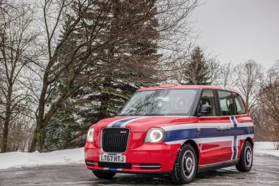 Black Cab Wrapped In The Norwegian Flag Revealed As Part Of LEVC'S Entrance Into The Nordic Electric Vehicle Market