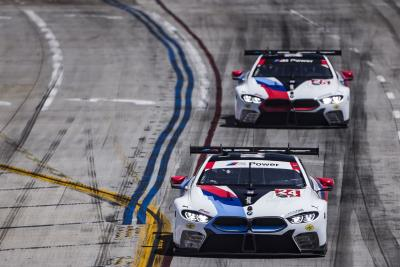 No. 24 BMW M8 GTE Of Edwards And Krohn Finishes Fifth At Long Beach; No. 25 M8 GTE Retired After Leading 9 Laps Early