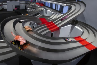 Cadillac House Transforms Into The Ultimate Racing Destination With Interactive Minicar Racetrack