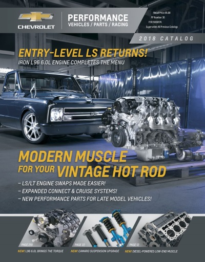 2018 Chevrolet Performance Portfolio Features Industry'S Largest O.E.M. Crate Engine Lineup