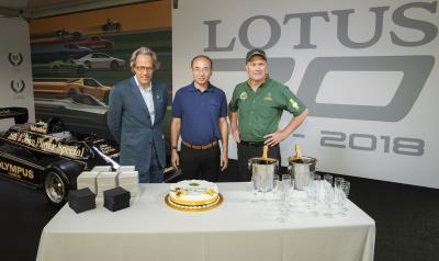 Chapman, Cake And Champagne For Lotus 70Th Celebrations At Goodwood Festival Of Speed