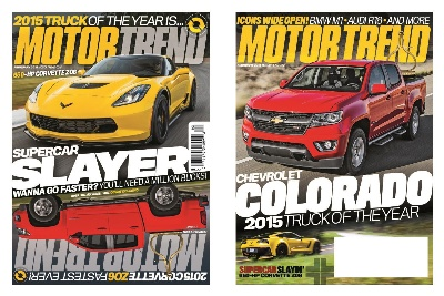 MOTOR TREND NAMES CHEVROLET COLORADO 2015 TRUCK OF THE YEAR