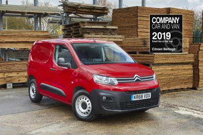 New Citroën Berlingo Van Wins Small Van Of The Year Award From Company Car And Van Magazine