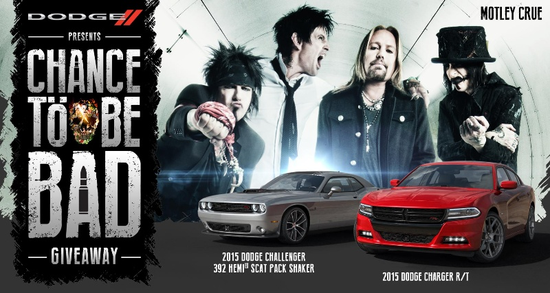 DODGE AND MÖTLEY CRÜE GIVE FANS A CHANCE TO BE BAD IN NATIONWIDE PROMOTION