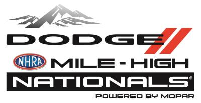 Dodge Mile-High NHRA Nationals Powered By Mopar Thunders Into Denver, Marks Milestone 30Th Year Of FCA US Sponsorship
