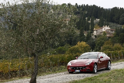Ferrari enchants Tuscany