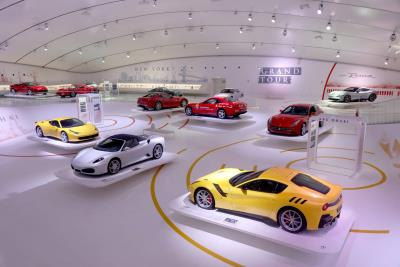 The 'Ferrari Grand Tour, A Journey Through Passion And Beauty' Exhibition At The MEF In Modena