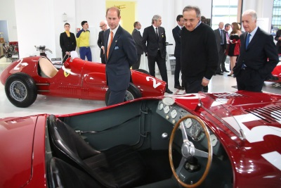 HIS ROYAL HIGHNESS PRINCE EDWARD VISITS FERRARI