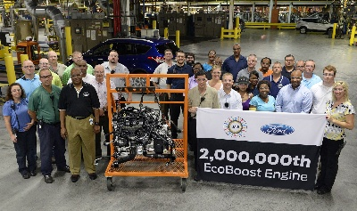 FORD BUILDS TWO MILLIONTH ECOBOOST ENGINE AS CONSUMER DEMAND GROWS IN MARKETS WORLDWIDE