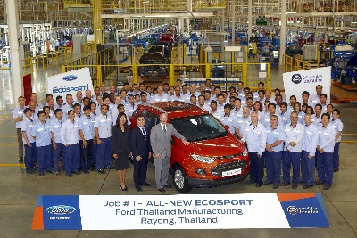 FORD CELEBRATES OFFICIAL START OF PRODUCTION FOR ALL-NEW ECOSPORT URBAN SUV AT THAILAND FACILITY