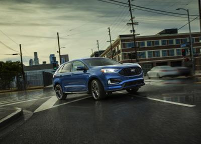 New Ford Edge Edge St Use Artificial Intelligence To Help Improve Traction Reduce Fuel