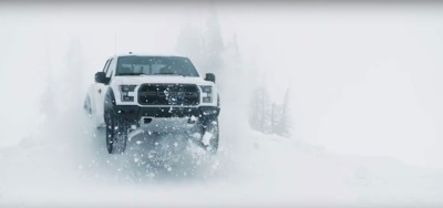 BRING ON WINTER! WATCH KEN BLOCK PLAY IN THE SNOW WITH THE ALL-NEW F-150 RAPTOR