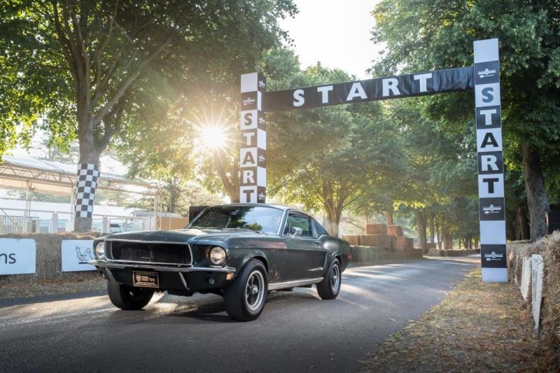 Ford Brings Silver Screen Icon To Goodwood With Longlost 68 Bullitt Movie Mustang And New Ford Mu