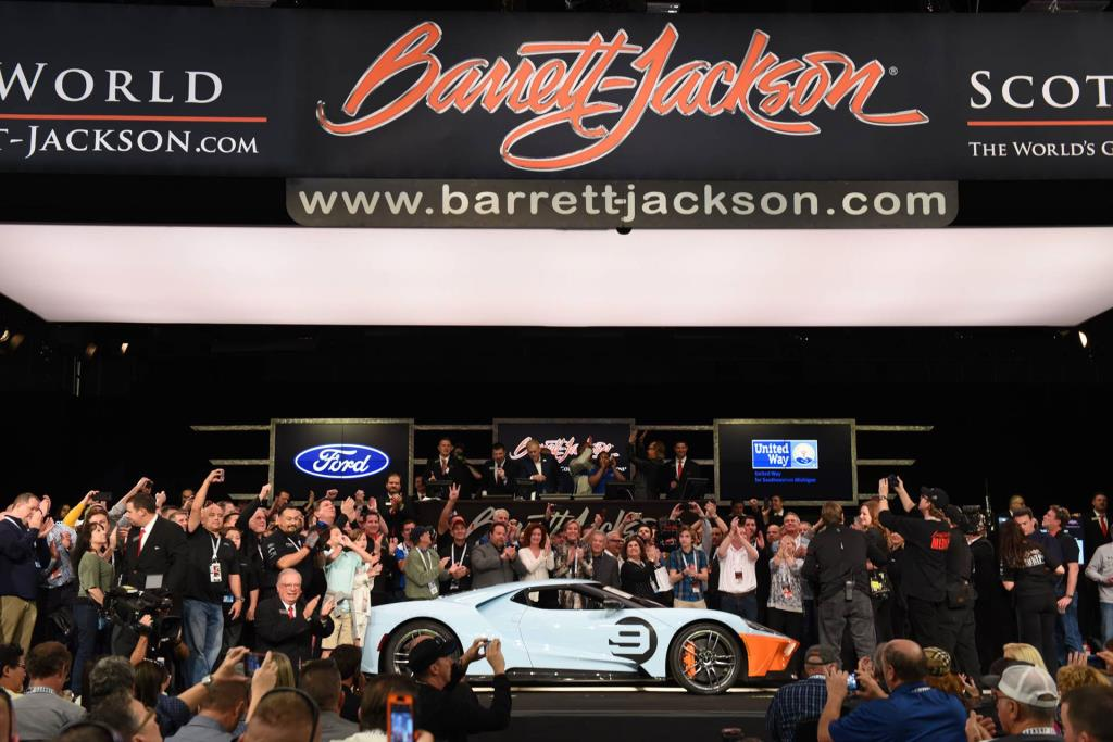 First 2019 Ford GT Heritage Edition Sells for $2.5 Million as Ford Donates $3.6 Million to Long-Time Charity Partners from a Weekend of Rare Vehicle Auctions