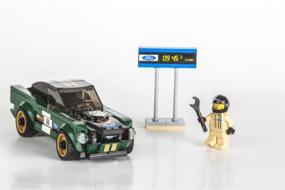 New Lego Speed Champions 1968 Mustang Fastback Is A Personalized Vintage Ford Race Car For Your Desk