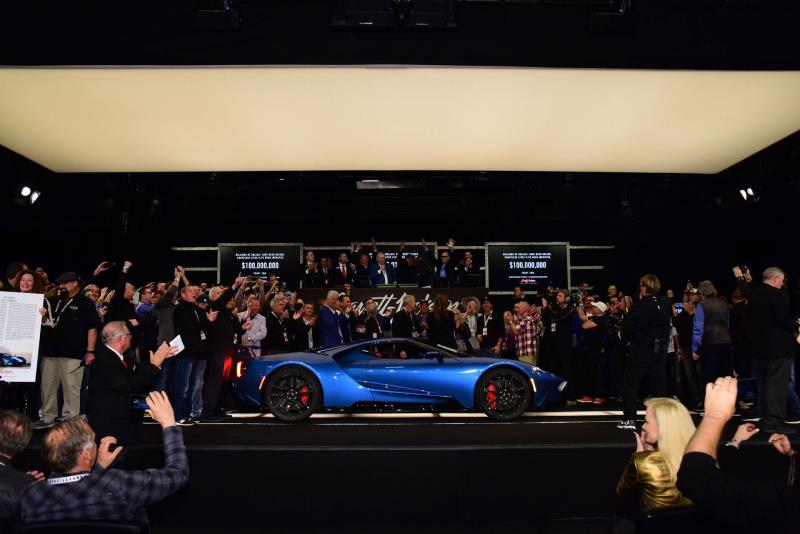 Barrett Jackson Auction 2017 >> Sale Of 2017 Ford Gt And 2019 Ford Mustang Bullitt Raises