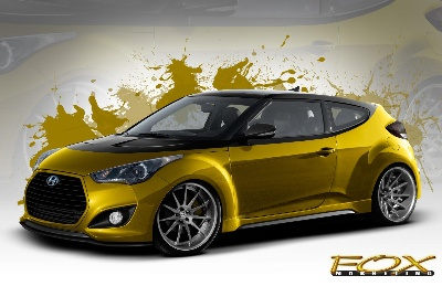 Fox Marketing Veloster Turbo Rounds Out Hyundai's SEMA Show Lineup