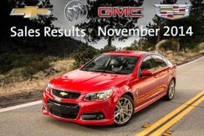 GM POSTS ITS BEST NOVEMBER U.S. SALES SINCE 2007