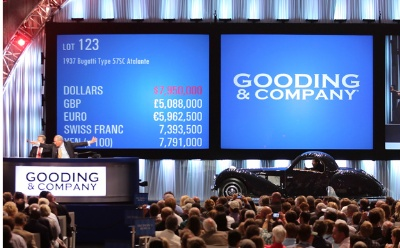 Gooding & Company's 10th Anniversary Pebble Beach Auctions Realizes More Than $112 Million