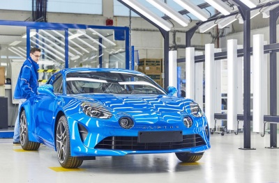 groupe renault inaugurates new alpine a110 production line in dieppe france. Black Bedroom Furniture Sets. Home Design Ideas