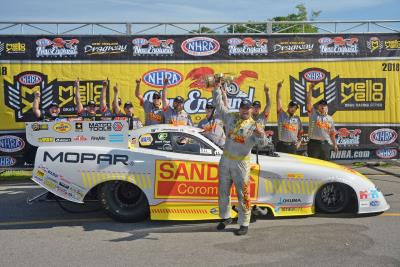 Hagan Takes Mopar Dodge Charger Funny Car From Pole To Second Consecutive Win At NHRA New England Nationals