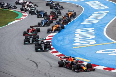 Verstappen Second, Red Bull Hondas in Top Five in Spain