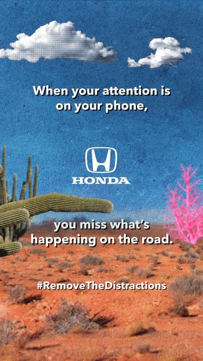 Honda Encourages Drivers To 'Remove The Distractions' For Distracted Driving Awareness Month