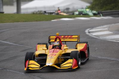 Podium Finishes For Hunter-Reay, Hinchcliffe At Rain-Impacted Honda Indy Grand Prix Of Alabama