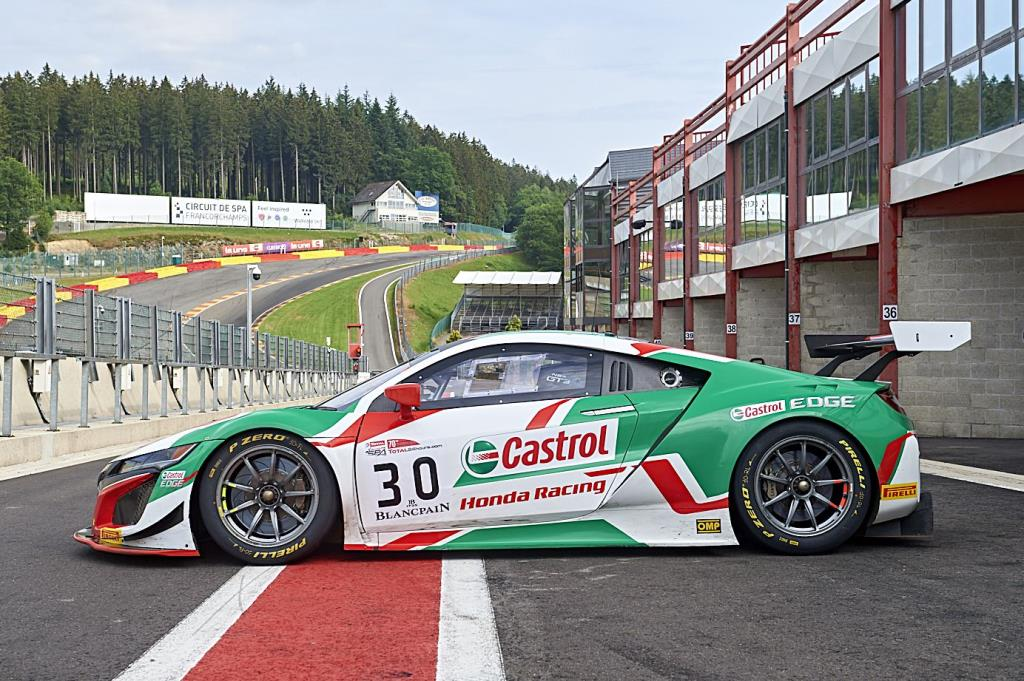 Riccardo Patrese And Loic Depailler In The Nsx Gt3 At Spa 24 Hours