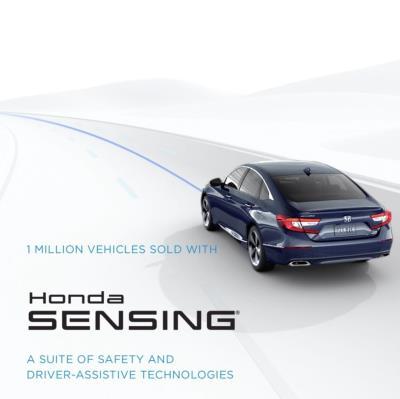 Honda Reaches One Million Vehicles With Honda Sensing® On U.S. Roads