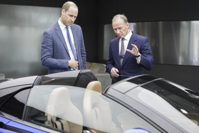 HRH The Duke Of Cambridge Meets The Team Behind McLaren Automotive, World-Beating British Sports And Supercar Maker