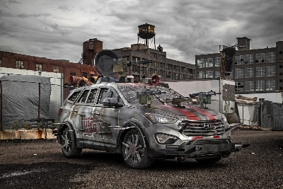 Hyundai Unveils Fan-Designed Zombie Survival Machine At New York Comic-Con