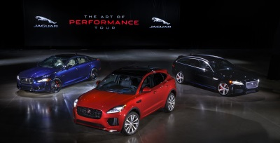 Jaguar Debuts New Suv, A Sportbrake And A Super Sedan At The Latest Art Of Performance Tour Event In Novi, Michigan