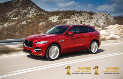 Jaguar F-Pace Receives 2017 World Car Of The Year And World Car Design Of The Year Awards At Ny International Auto Show