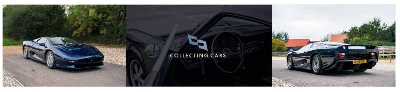 1993 Jaguar XJ220 Supercar Debuts on  Collecting Cars Global Auction Platform