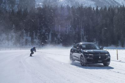 Jamie Barrow Breaks Guinness World Record For Fastest Speed On A Snowboard, Towed By A Vehicle (Maserati Levante)