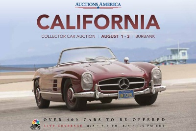 JAY LENO TO APPEAR AT AUCTIONS AMERICA'S DEBUT CALIFORNIA SALE