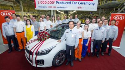 Kia Motors Builds Its Three Millionth Car In Europe