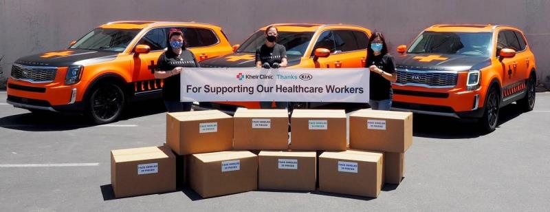 Kia Motors' 'Telluriders' Continue Delivering Face Shields To Hospitals And Medical Facilities Nationwide