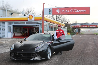 Kimi and the F12berlinetta
