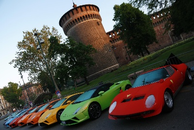 Lamborghini 50Th Anniversary Grand Tour Starts: 350 Supercars From All Over The World Celebrating 'Made In Italy'