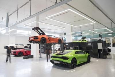 Lamborghini Opens In Dubai Its Worldwide Largest Showroom