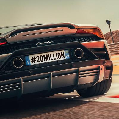 Automobili Lamborghini Hits 20 Million Followers On Instagram