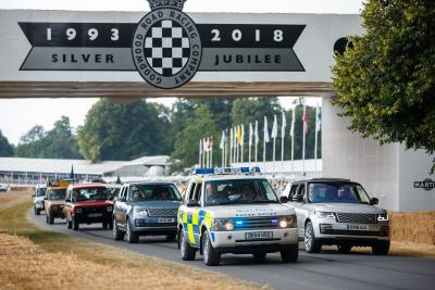 Land Rover Celebrates 70 Years With Largest Ever Parade Of Vehicles On Goodwood Hill
