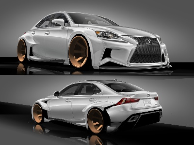 2014 Lexus Is Sport Sedan Designed To Deviate At 2013 Specialty Equipment Market Association (SEMA) Show