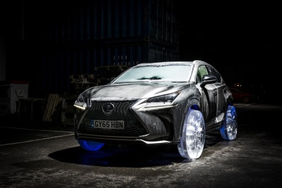 LEXUS NX RIDES ON THE WORLD'S COOLEST WHEELS - CRAFTED IN SOLID ICE