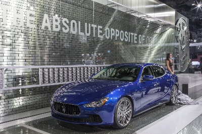 Maserati Ghibli On Stage In Los Angeles At The Start Of The 'Opposite Of Ordinary' Era
