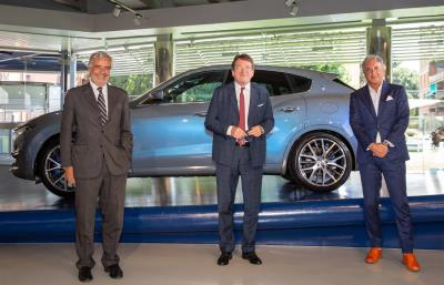 The beauty of sustainable mobility with Maserati to the Italian Pavilion at Expo 2020 Dubai