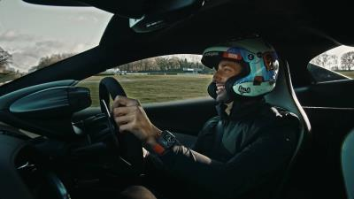 McLaren Formula 1 driver Daniel Ricciardo drives the new McLaren Artura ahead of global reveal at 19:01 EST (16:01 PST) on Tuesday February 16